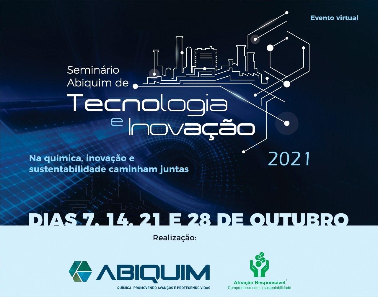 A Oxiteno está patrocinando a 6ª edição do Seminário de Tecnologia e Inovação 2021 da Abiquim